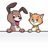 Cartoon Dog Cat Animal Frame