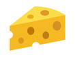 Swiss cheese or emmental cheese flat color icon for food apps and websites