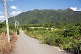 石垣島の道と山
