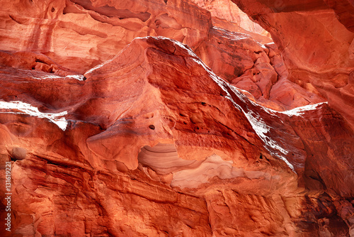 Staande foto Rood traf. Khazali Canyon, Wadi Rum, Jordan, Middle East