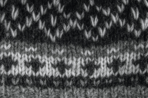 Poster Real knitted fabric textured background.