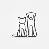 Cat with dog icon - 131629619