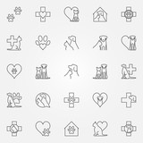 Veterinary icons or logo elements - 131629823