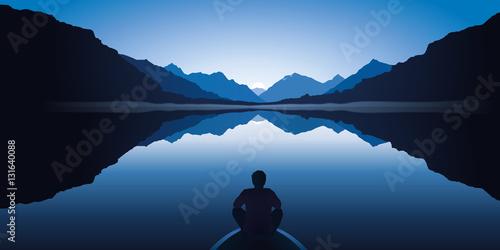 Paysage - Montagne - Zen - Barque - 131640088