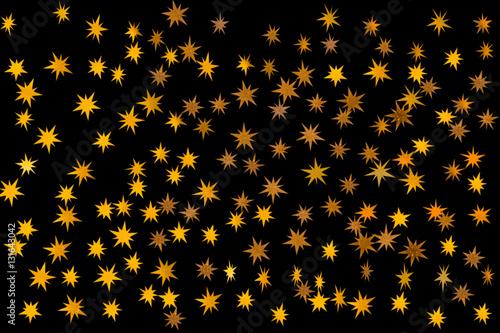 fond d'étoiles dorées