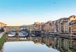 Quadro Ponte Vecchio over Arno river in Florence, Italy