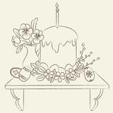 Orthodox Easter illustration