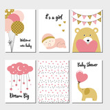 Fototapety Baby shower cards