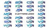 3 letters modern generic swoosh logo ATR, BTR, CTR, DTR, ETR, FTR, GTR, HTR, ITR, JTR, KTR, LTR, MTR, NTR, OTR, PTR, QTR, RTR, STR, TTR, UTR, VTR, WTR, XTR, YTR, ZTR