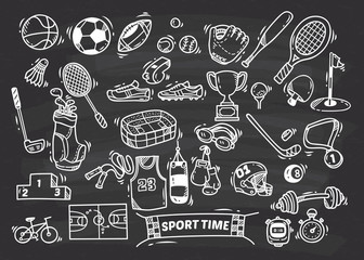Sport doodle element © mhatzapa