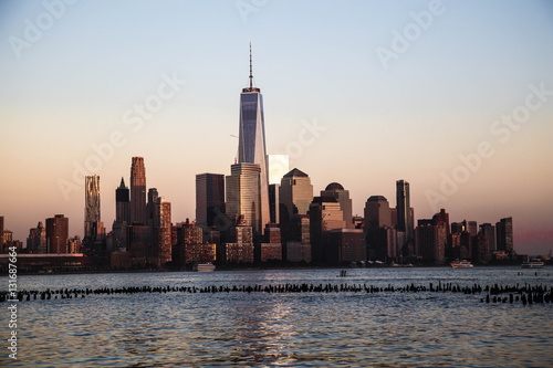 Foto op Canvas New York Freedom Tower - World Trade Center, seen from Hoboken