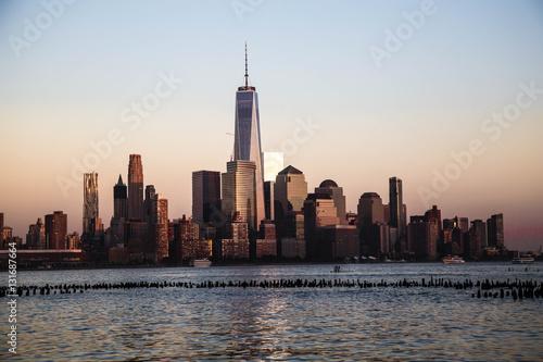 Staande foto New York Freedom Tower - World Trade Center, seen from Hoboken