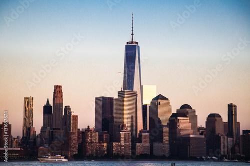 Poster Freedom Tower - World Trade Center, seen from Hoboken