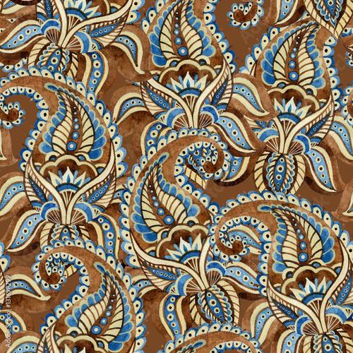 Watercolor indian ornament - 131698299