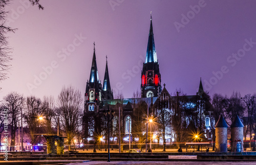 Staande foto India Neo Gothic style cathedral