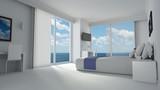 Luxury hotelroom in modern designed style