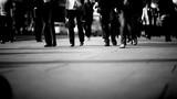 Shot of walking people on a big street in london