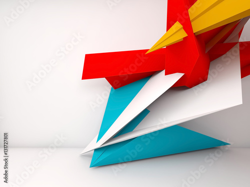 Abstract white interior background, 3 d © eugenesergeev