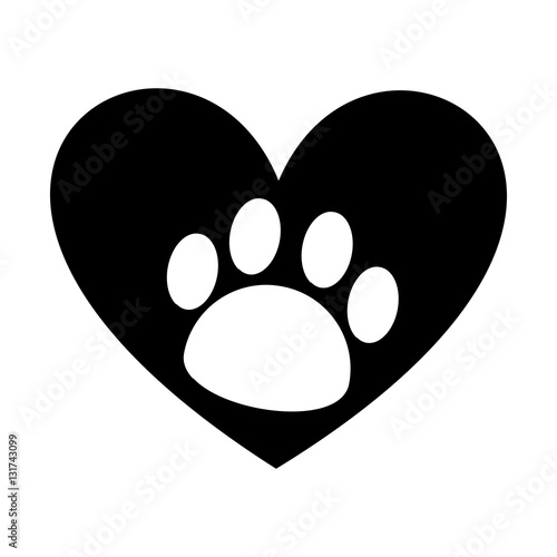 mascot footprint isolated icon vector illustration design