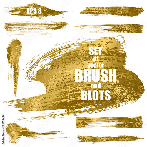 Set of gold vector brushes