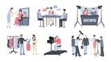 Pressman and operator video animation footage