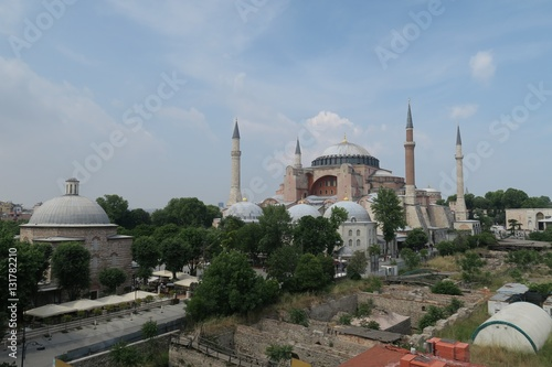 Poster Hagia Sophia, Christian Orthodox Patriarchal Basilica, Imperial Mosque and now a
