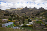 small high altitude village in the Ecuadorian Andes