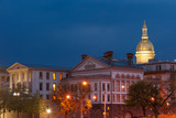 NJ state capitol complex at night in Trenton, New Jersey  - 131809896