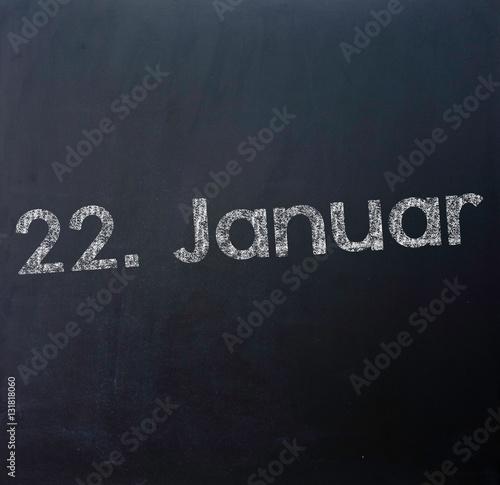 Poster 22 Januar Tafel