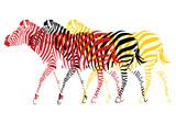 Zèbres pop art multicolores - 131820214