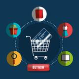 commercial marketing set line icons vector illustration design