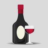 the best wine collection vector illustration design
