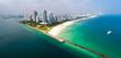 Miami Florida South Beach Aerial Panorama