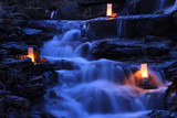 Fototapety Cascading Waterfall Garden with Candles