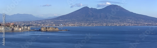 Spoed canvasdoek 2cm dik Napels Aerial view of Naples bay