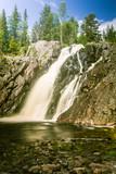 A beautiful waterfall in Finland