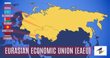 map of the member states of the Eurasian Economic Union.