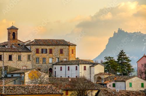 Verucchio town Rimini italian village landscape emilia romagna