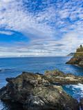 View at Ligurian sea from Manarola, Italy
