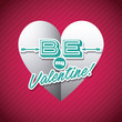 Detaily fotografie happy valentines day card with heart shape icon. colorful design. vector illustration