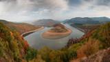 Cloudy autumn morning along the Arda River, Rhodope Mountains, Bulgaria