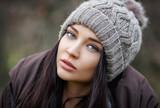Beautiful girl wintertime in a hat