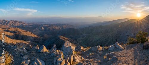 Fototapeta Sunset panorama at Keys View