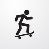 skateboard icon illustration