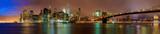 Night view of the Brooklyn Bridge in New York City
