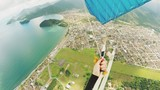 Parachute woman point of view