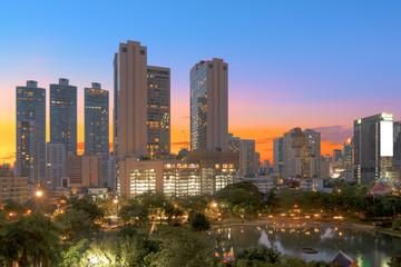 Bangkok modern office buildings, condominium in Bangkok city dow