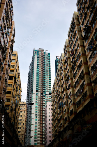 Poster Hong Kong high density housing apartments