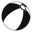 Beach ball icon. Simple illustration of beach ball vector icon for web
