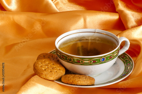 Poster a  ginger and orange tea